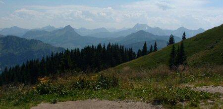 Blick auf die Ammergauer Berge